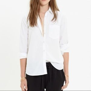 Madewell essential boyshirt in white size Large